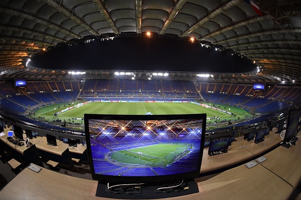 ROME, ITALY - NOVEMBER 04: General view of Olimpico Stadium before the UEFA Champions League Group E match between AS Roma and Bayer 04 Leverkusen at Olimpico Stadium on November 4, 2015 in Rome, Italy. (Photo by Giuseppe Bellini/Getty Images)