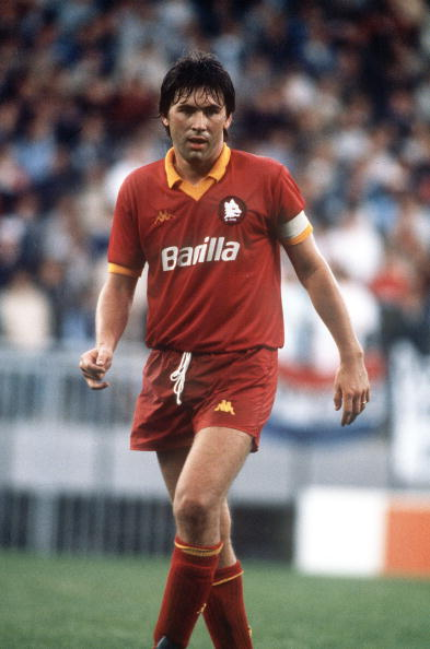 Sport. Football. pic: circa 1990. Carlo Ancelotti, AS. Roma.