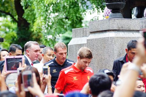 Brendan Rodgers and Steven Gerrard Liverpool team