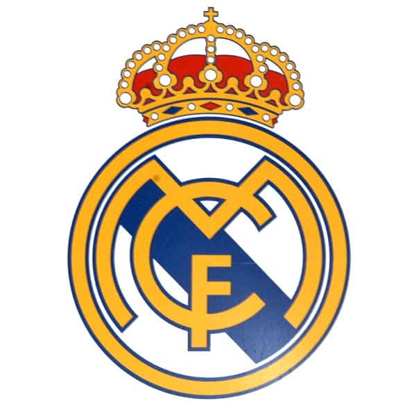 Official logo of the spanish football team, Real Madrid. (Photo by Gianni Ferrari/Cover/Getty Images)