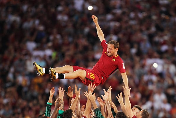 Francesco Totti jubel
