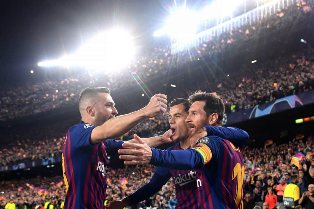 Jordi Alba Lionel Messi Philippe Coutinho