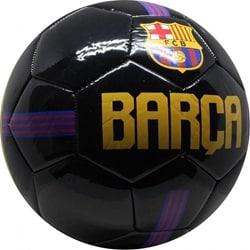 Fodbold læder sort i størrelsen 5