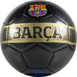 Læder Soccer Stor Black Størrelse 5