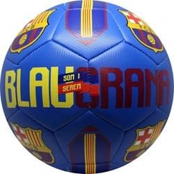 fodbold læderstik størrelse 5 blå
